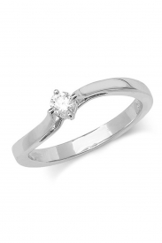 9K Wave Diamond Ring