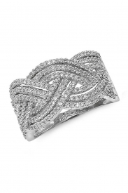 9K Fancy Band Diamond Ring