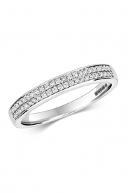 9CT 2 Row Diamond Eternity Ring
