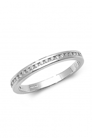 18K 1/2 Eternity Channel Set Ring