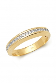 18K Princess Cut Channel Set Ring