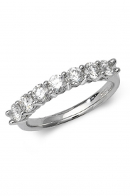 18K 7 Diamond 4 Claw 1/2 Eternity Diamond Ring