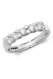 18K 5 Stone Diamond Eternity Ring