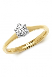 18K 6 Claw Solitaire Diamond Ring