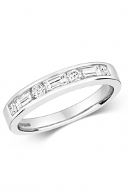 18K Eternity RD/BG Diamond Ring