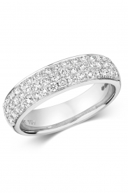 18CT 3 Row Diamond Ring