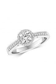 18CT Halo Diamond Ring