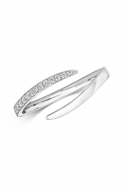 18CT Open Crossover Diamond Ring